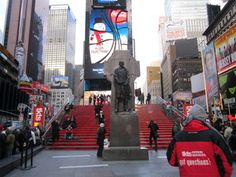 Red Steps in Duffy Square (Times Square)