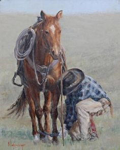 Open Pastures by Julie Nighswonger from AWA's 2017 spring online juried show. #womenartists #springonlineshow17