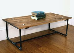 Industrial Style Coffee Table by TheArticle on Etsy, $290.00