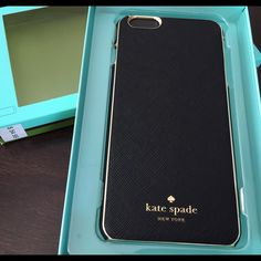 Brand New Kate Spade Wrap Cases For iPhone 6 plus Brand New Authentic Kate Spade New York Designer Case For iPhone 6 plus/ 6s plus,beautiful black saffiano leather with gold edge trim warp case, Slim and fully protection. Gorgeous Item come with original retail box. Package is perfect No trade please! No low balling please kate spade Accessories Phone Cases
