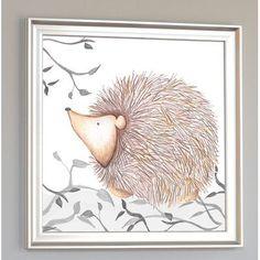 Doodlefish Forest Hadley Hedgehog Framed Art Frame Color: Silver Frame