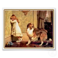 My grandma used to have this in her house - reminds me of myself and my old dog Charlie.