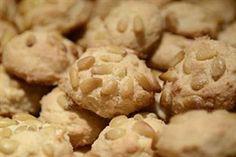 Pignoli nut cookies Amaretti con Pignoli cookies.