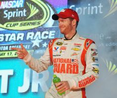 Dale Earnhardt Jr., driver of the #88 National Guard Chevrolet, is introduced prior to the NASCAR Sprint Cup Series Sprint All-Star Race at Charlotte Motor Speedway on May 17, 2014 in Charlotte, North Carolina. http://www.pinterest.com/jr88rules/nascar-2014/ #DaleJr2014