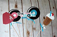 c36375613eb90 Fab 50s Birthday Party Centerpiece, Sock Hop Party Decorations, 1950s Party  Centerpiece