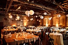 Creative alternatives to traditional reception and ceremony seating-mix of round and square tables