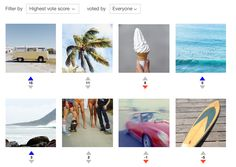 Screenshot of Bunchcut's board use for image selection and voting