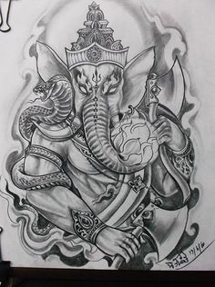 Buddha Tattoo Design, Buddha Tattoos, African Sleeve Tattoo, Sleeve Tattoos, Ganesh Tattoo, Mandala Tattoo, Asian Tattoos, Black Ink Tattoos, God Tattoos