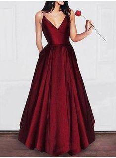 2ae32a721db Sexy A Line V Neck Short Burgundy Prom Dress with Spaghetti Straps