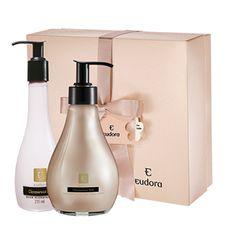 Eudora Estojo - Glamorous Silk Especial Mães Sinta o toque macio e luxuoso da seda em um hidratante corporal e em um sabonete para mãos e deixe a pele irresistível por R$63,90