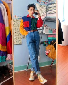 moda Your piece of aesthetics op Instagra - Indie Outfits, Cute Casual Outfits, Retro Outfits, Fashion Outfits, 80s Style Outfits, 1980s Outfit, 80s Inspired Outfits, Cute Vintage Outfits, Vintage Style