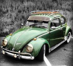 Ideas for vintage cars green vw beetles Vw Bugs, Vw Volkswagen, Vw T1, Wolkswagen Van, Vw Camping, Kdf Wagen, Auto Retro, Vw Vintage, Vw Beetles