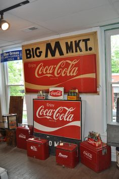 love the old coke coolers!