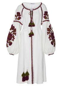 Flower Pixel Midi dress