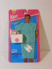 VTG 1990s Barbie Boy Friend Ken Doll Male Nurse Outfit