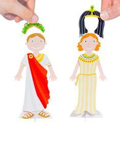 Famous Romantic Couples Paper Dolls DIY Craft Kit Paper by pukaca