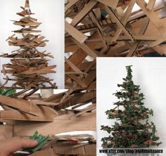 Eco Friendly christmas tree from cardboard #CardBoard, #Christmas, #ChristmasTree