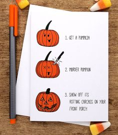funny halloween card halloween greeting card funny by oksillyink