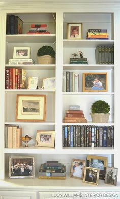 BEFORE AND AFTER: LIVING ROOM BOOKCASE