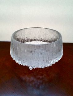 """Iittala """"Ultima Thule"""" Glass Bowl by Tapio Wirkkala Glass Serving Bowls, Scandinavian Design, Vases, Glass Vase, Room Ideas, Rings For Men, Objects, Crystals, Etsy"""