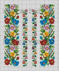 Gallery.ru / Фото #89 - Вишиванки з моделями - bdancer Cross Stitch Bookmarks, Cross Stitch Borders, Cross Stitch Flowers, Cross Stitch Charts, Cross Stitch Designs, Cross Stitching, Cross Stitch Patterns, Folk Embroidery, Embroidery Patterns Free