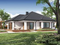 Projekat moderne prizemne kuće s garažom – Hipokrates One Level House Plans, Single Storey House Plans, House Layout Plans, House Layouts, Village House Design, Country House Design, Kerala House Design, Village Houses, House Plans South Africa