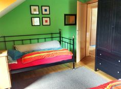 Upstairs bedroom three with twin beds. View B.