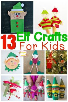 Elves are a staple at Christmas. Their work ethic makes them great role models for kids. These elf crafts for kids gives elves the recognition they deserve! Christmas Activities For Kids, Preschool Christmas, Fun Crafts For Kids, Craft Activities For Kids, Christmas Projects, All Things Christmas, Christmas Themes, Kids Christmas, Holiday Crafts