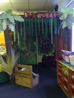 Dinosaur role play area