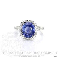 3.91ct Blue Sapphire Ring Image 2