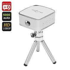 iDeaUSA Pico Mini Projector - 120 Inch Projection, 1080P, Pocket Size, iOS, Android, Mac, Windows