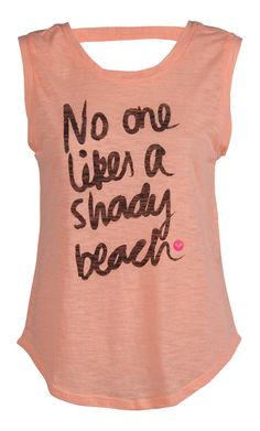 Roxy Shady Beach Tank -omg I seriously need this!