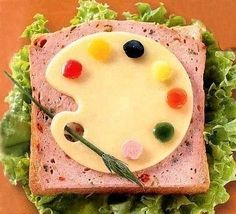 Playful Dots and Creative Food Design Ideas Cute Snacks, Cute Food, Good Food, Funny Food, Food Art For Kids, Cooking With Kids, Food Sculpture, Childrens Meals, Food Decoration