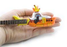 Beatles Yellow Submarine Miniature Handcrafted Guitar: Amazon