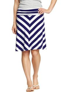 Old Navy fold over jersey chevron skirt