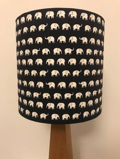 Fantastic colourful space invaders print lamp shade blue red white elephants on dark blue lampshade aloadofball Image collections
