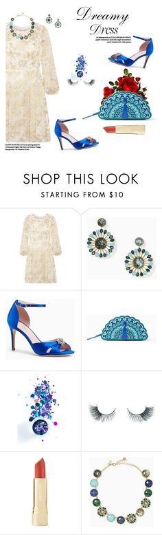 """""""DREAMY DRESSES AND PEACOCKS"""" by k-hearts-a ❤ liked on Polyvore featuring Oscar de la Renta, Kate Spade, In Your Dreams and Unicorn Lashes"""