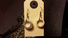 Handmade paper quilling 1 open circle earrings by WowItsPaper