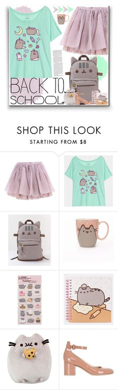 """#PVxPusheen"" by nikkimarie-1123 ❤ liked on Polyvore featuring Olympia Le-Tan, Pusheen, Gund, Gianvito Rossi, BackToSchool, contestentry, pusheen and PVxPusheen"