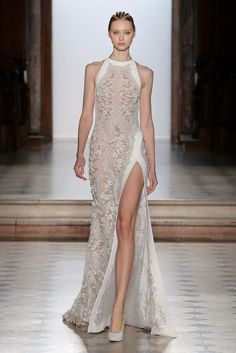 Tony Ward Couture I Spring Summer 2018 I White embroidered dress with halter neckline and silk detailing. Tony Ward Couture I Spring Summer 2018 I White embroidered dress with halter neckline and silk detailing. Vestidos Fashion, Fashion Dresses, Beautiful Gowns, Beautiful Outfits, Evening Dresses, Prom Dresses, Formal Dresses, Quinceanera Dresses, Club Dresses