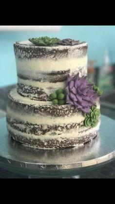 Succulent cake, naked cake
