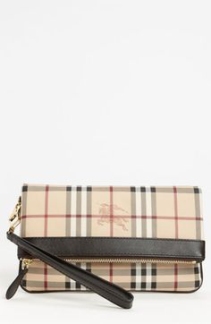 Burberry 'Haymarket Check' Wristlet, Large available at #Nordstrom
