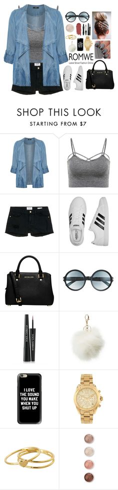 """""""Untitled #517"""" by liora134 ❤ liked on Polyvore featuring Evans, Frame Denim, adidas, MICHAEL Michael Kors, Tom Ford, Dolce&Gabbana, Charlotte Russe, Casetify, Michael Kors and Gorjana"""