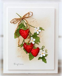 CC582 Strawberries by Biggan - Cards and Paper Crafts at Splitcoaststampers