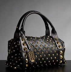 Jessica Simpson black studded bag - Handbags, Purses, and Bags - Zimbio