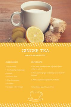 Ginger Tea Recipe | Remedy for the Stomach Flu | Morning Sickness Remedy | How To Make Ginger Tea From: www.amamatale.com