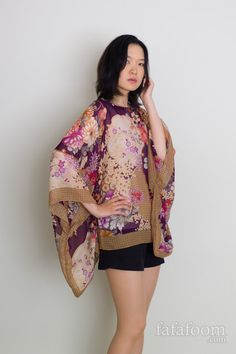 DIY Scarf Top with Kimono Sleeves