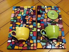 Mosaic Tile Art Colorful Wall Hanging Pane