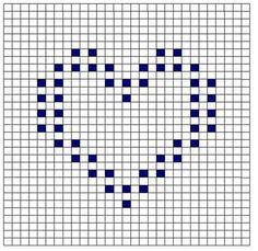 bobble stitch square // heart