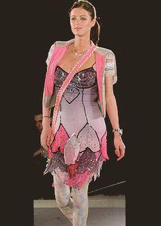 Nikki Hilton in Heatherette- dress pattern by joey johansson